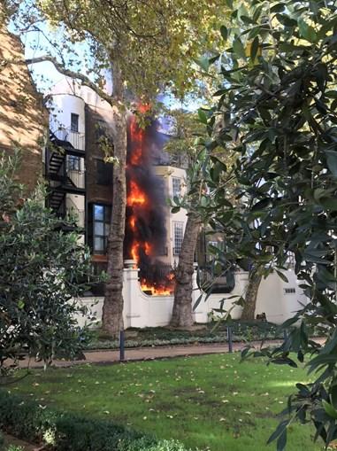Incêndio deflagra em prédio junto à embaixada da Arábia Saudita em Londres