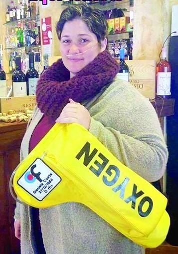Daniela Costa chegou a andar com uma mochila de oxigénio a simular que estava doente