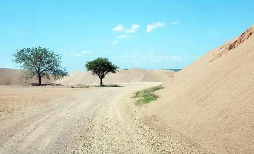 Local na pedreira abandonada onde foi encontrado o corpo de José Paulo Antunes Caetano