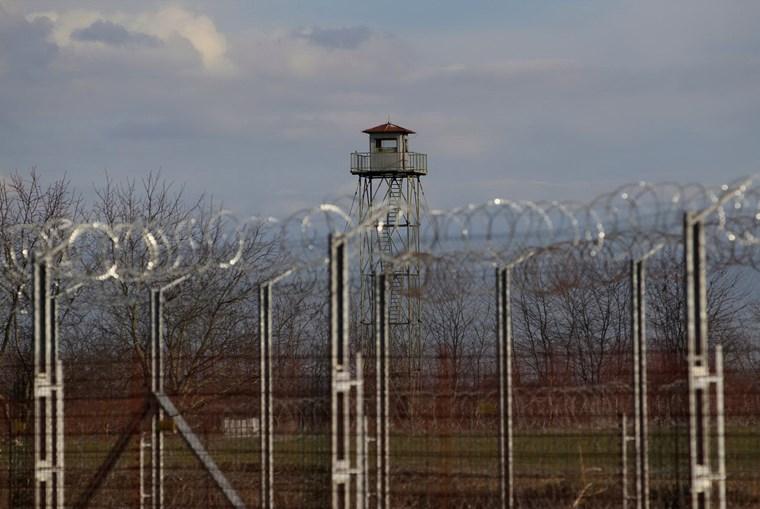 Centro de detenção de migrantes em Roszke, na Hungria
