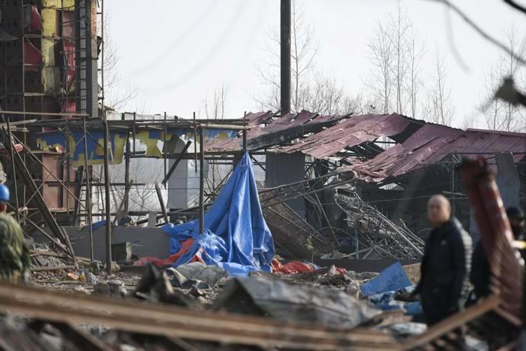Explosão numa fábrica na província de Jilin destruiu habitações