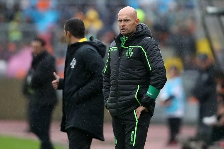 O treinador Marcel Keizer num jogo do Sporting