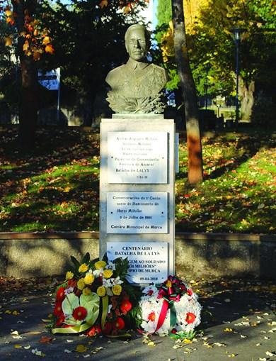 O 'soldado milhões', natural de Valongo de Milhais, tem busto que o homenageia em Murça