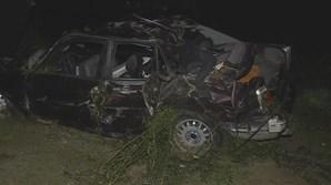 Carro cai de uma ravina em Gondomar e faz dois feridos