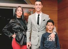 Cristiano Ronaldo com Gio e Cristianinho