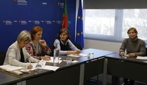 Ministra da Saúde Marta Temido reunida com sindicatos de enfermeiros, em dezembro de 2018