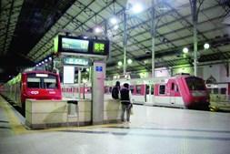 Cerca de 80% das viagens programadas até às 18 horas do dia de ontem foram suprimidas devido à greve dos revisores e trabalhadores de bilhética da CP