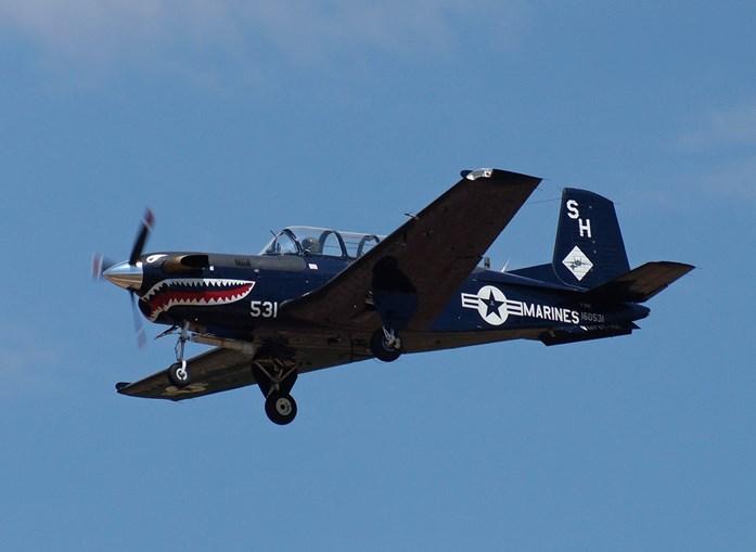 Avião T34C dos Marines americanos