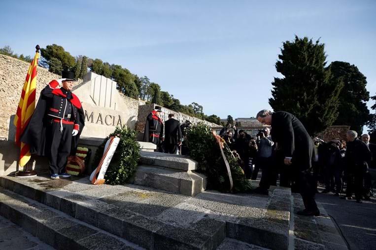 Quim Torra visitou a campa do antigo presidente catalão Francesc Macià