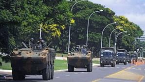 Forte cordão policial e militar para a tomada de posse de Bolsonaro