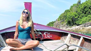 Jessica Athayde de férias na Tailândia