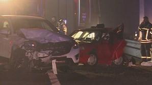 Acidente na A1 em Vila Nova de Gaia mata mulher e fere quatro familiares