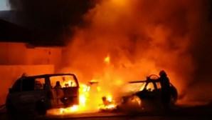 Vídeo mostra carros a arder em Camarate