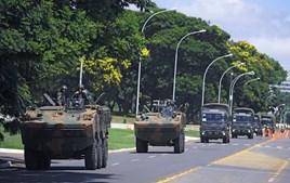 Treinos militares para a tomada de posse de Bolsonaro