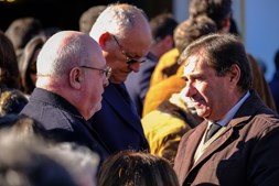 O ministro Capoulas Santos no funeral de Joaquim Bastinhas em Elvas