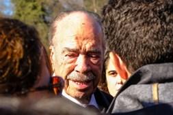 Rui Nabeiro, sogro de Joaquim Bastinhas, no funeral do cavaleiro, em Elvas
