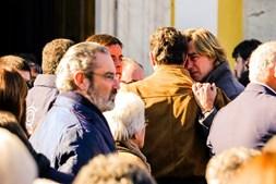 O cavaleiro Rui Fernandes no funeral de Joaquim Bastinhas em Elvas
