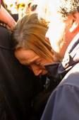 A viúva, Helena Nabeiro, na última despedida a Joaquim Bastinhas em Elvas