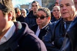 Fernando Mendes no funeral de Joaquim Bastinhas em Elvas