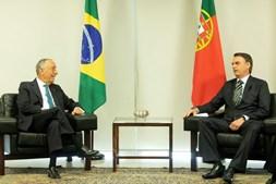 Marcelo Rebelo de Sousa com Jaír Bolsonaro em Brasília