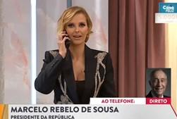 Cristina Ferreira recebeu telefonema de Marcelo Rebelo de Sousa em direto na SIC