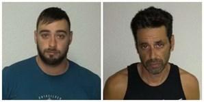 Rúben Pereira (esq) e Alexandre Guerra foram detidos no Brasil com 2 toneladas de haxixe
