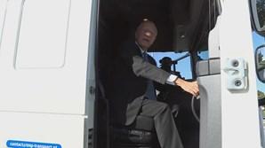 Marcelo Rebelo de Sousa viaja de Lisboa ao Porto de camião
