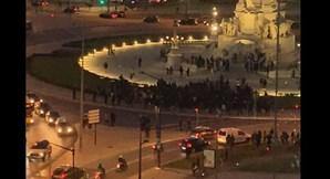PSP atacada à pedrada na Baixa de Lisboa responde com tiros