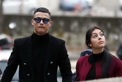 Ronaldo chegou ao tribunal de Madrid com Georgina Rodriguez