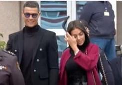 Ronaldo e Georgina à saída do tribunal de Madrid