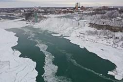 As imagens das cataratas no Niagara