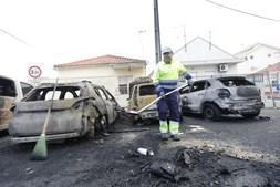 Cenário de destruição no Catujal, em Loures