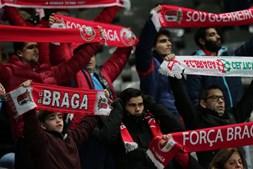 Adeptos do Braga nas bancadas do Estádio Municipal