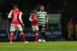 Lance do Sp. Braga - Sporting na meia final da Taça da Liga