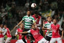Lance do Sp. Braga - Sporting da meia final da Taça da Liga