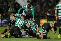 Sporting celebra vitória sobre o Braga na meia-final da Taça da Liga