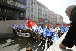 Protestos dos professores