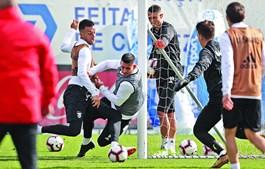 Treino do Benfica no Seixal
