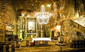 Capela das Minas de sal de Wieliczka é muito procurada pelos turistas