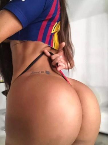 Ex-miss bumbum tatuou o nome de Messi