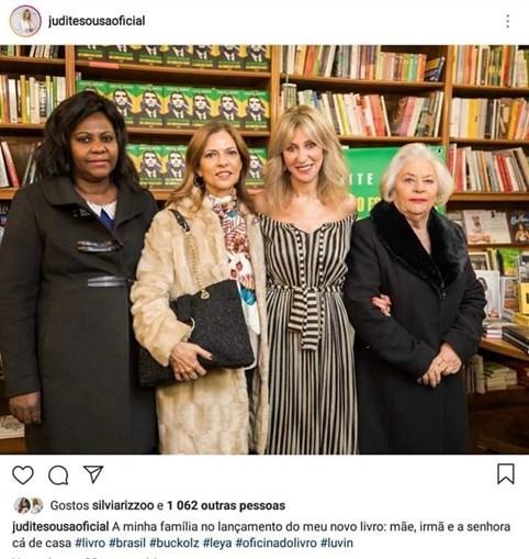 Judite Sousa com a mãe, a irmã e a 'senhora cá de casa'