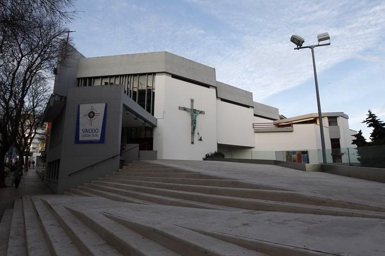 Fachada da Igreja do Senhor Jesus dos Navegante em Paço D'Arços.