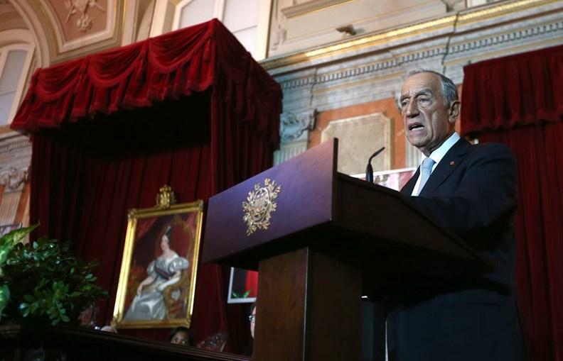 Marcelo Rebelo de Sousa foi o  último a discursar na cerimónia  de abertura do ano judicial