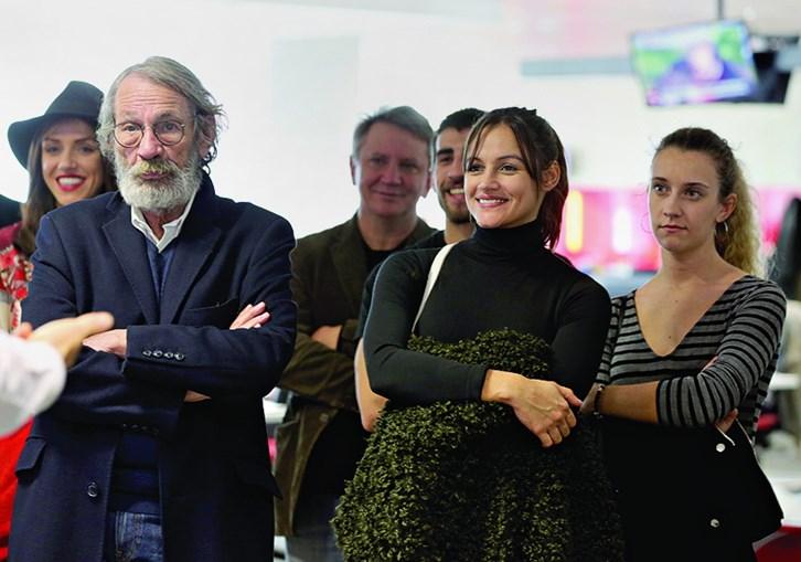 José Martins e Joana Alvarenga na redação do CM