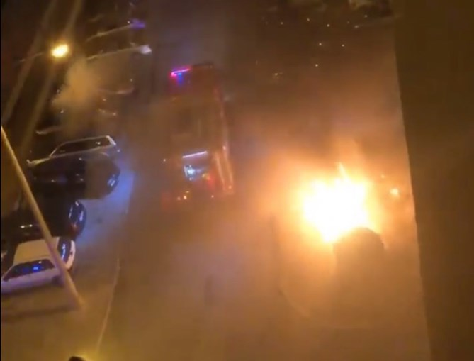 Ecopontos incendiados em Miratejo, Seixal