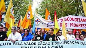 Enfermeiros grevistas com falta injustificada e perda de salário