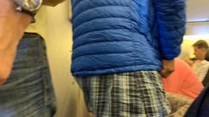 Passageiro despe-se e viaja em boxers durante voo de longo curso da Air France