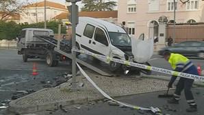 Colisão no centro de Lisboa faz dois feridos