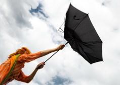 Tempestade traz ventos fortes
