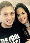 Emiliano Sala e Luiza Ungerer
